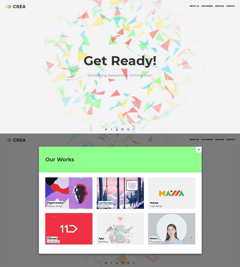 html5创意的企业网站建设中动画模板