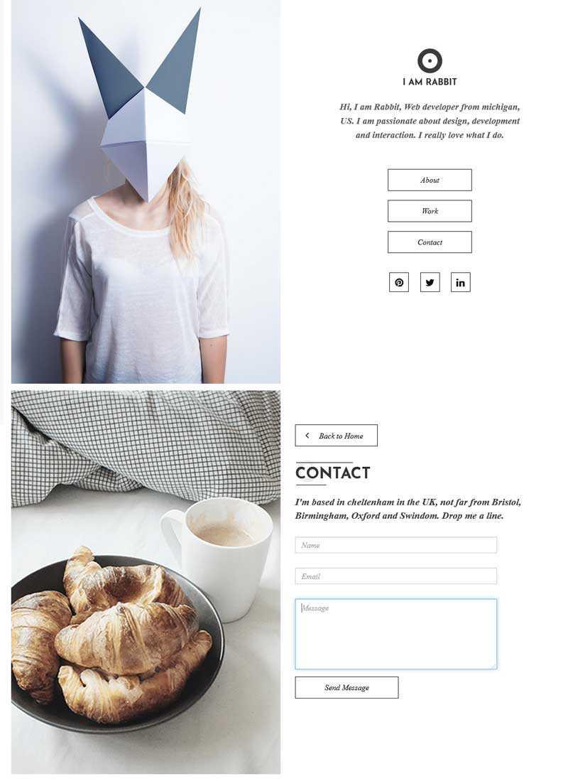 简单的个人主页介绍网页模板
