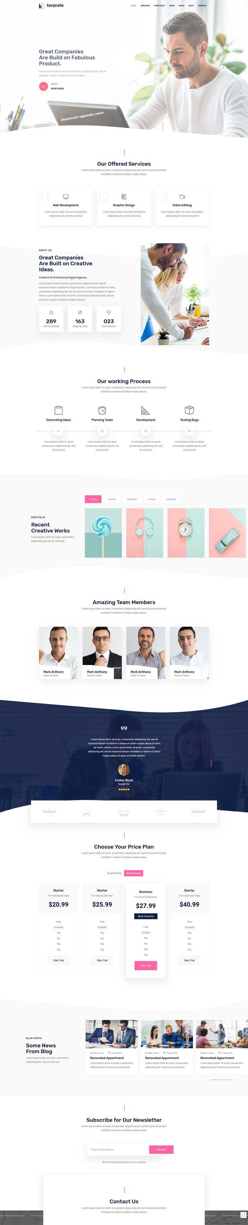 html5室内设计公司单页模板