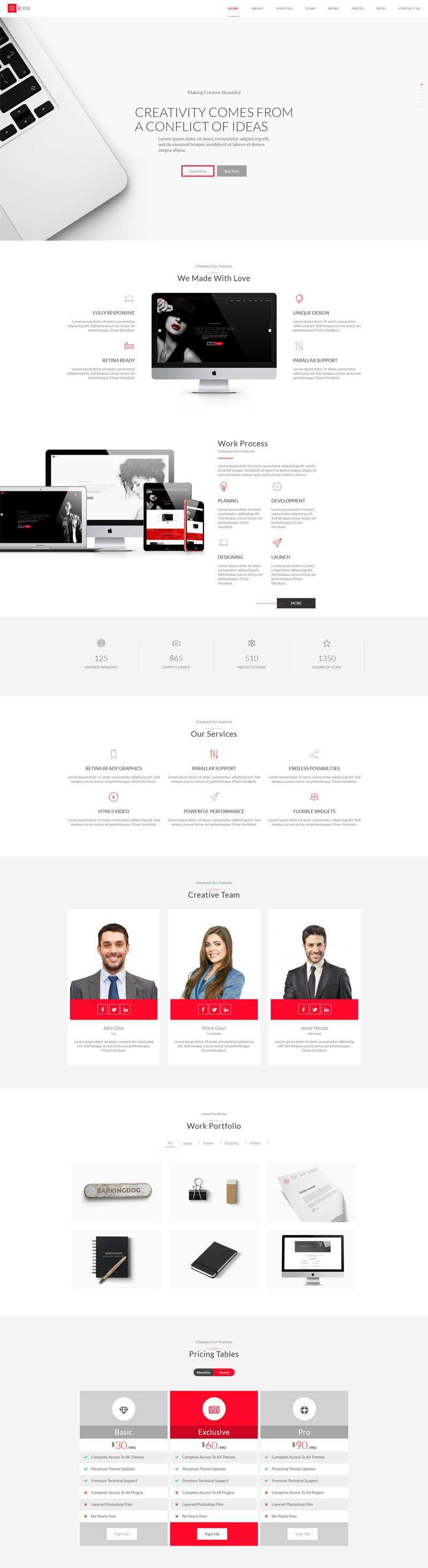 html5创意的设计工作室视差单页模板