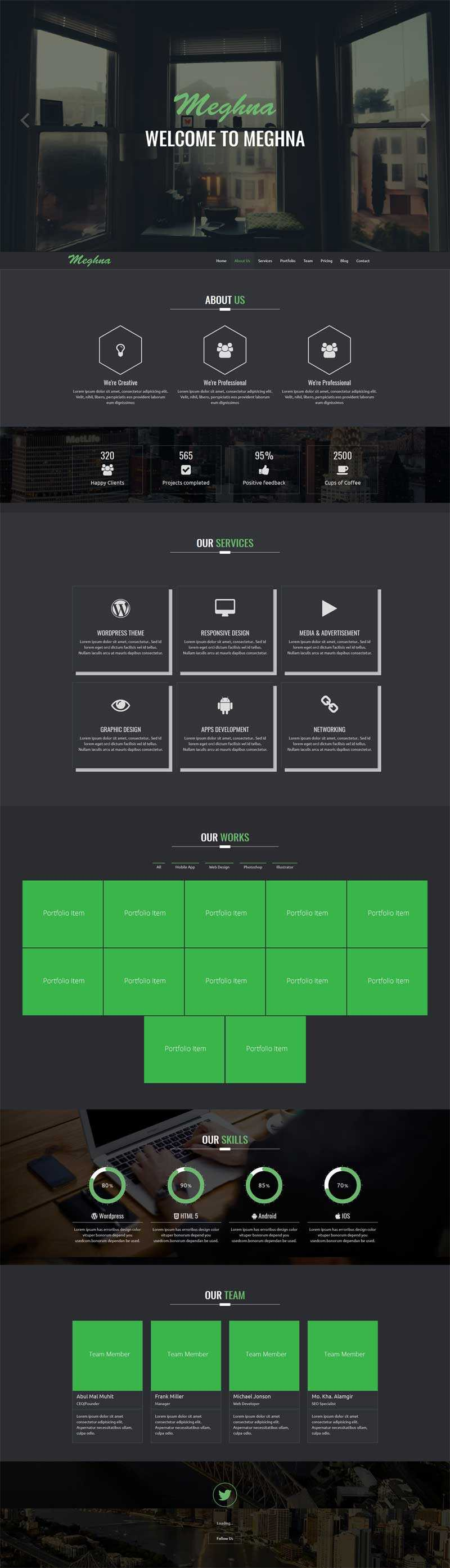 黑色通用的软件科技公司html5单页模板