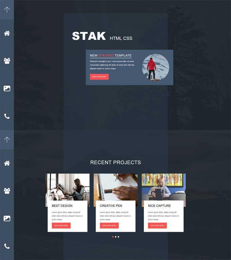 黑色创意个性的个人主页介绍网页模板