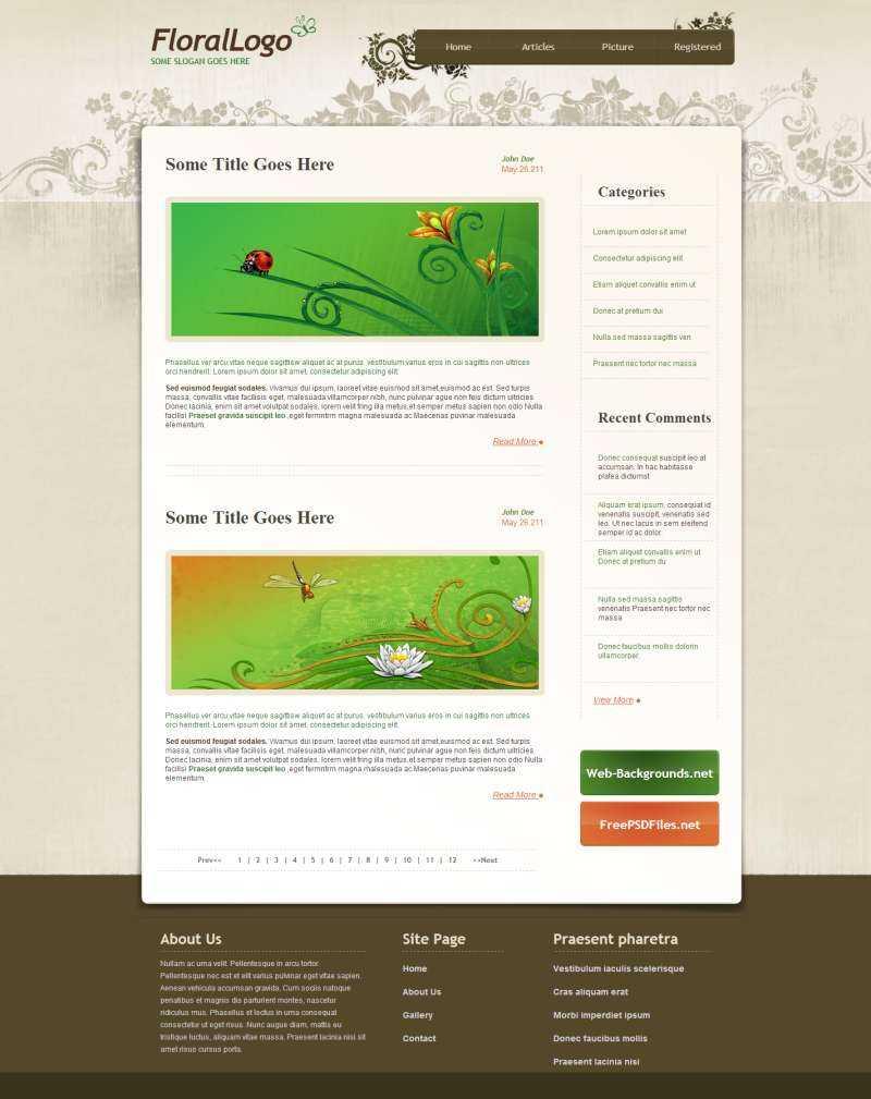 国外花纹风格个人博客blog网站模板下载