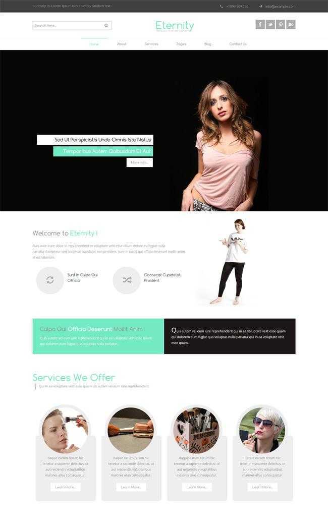 女性时尚美容网站模板插图