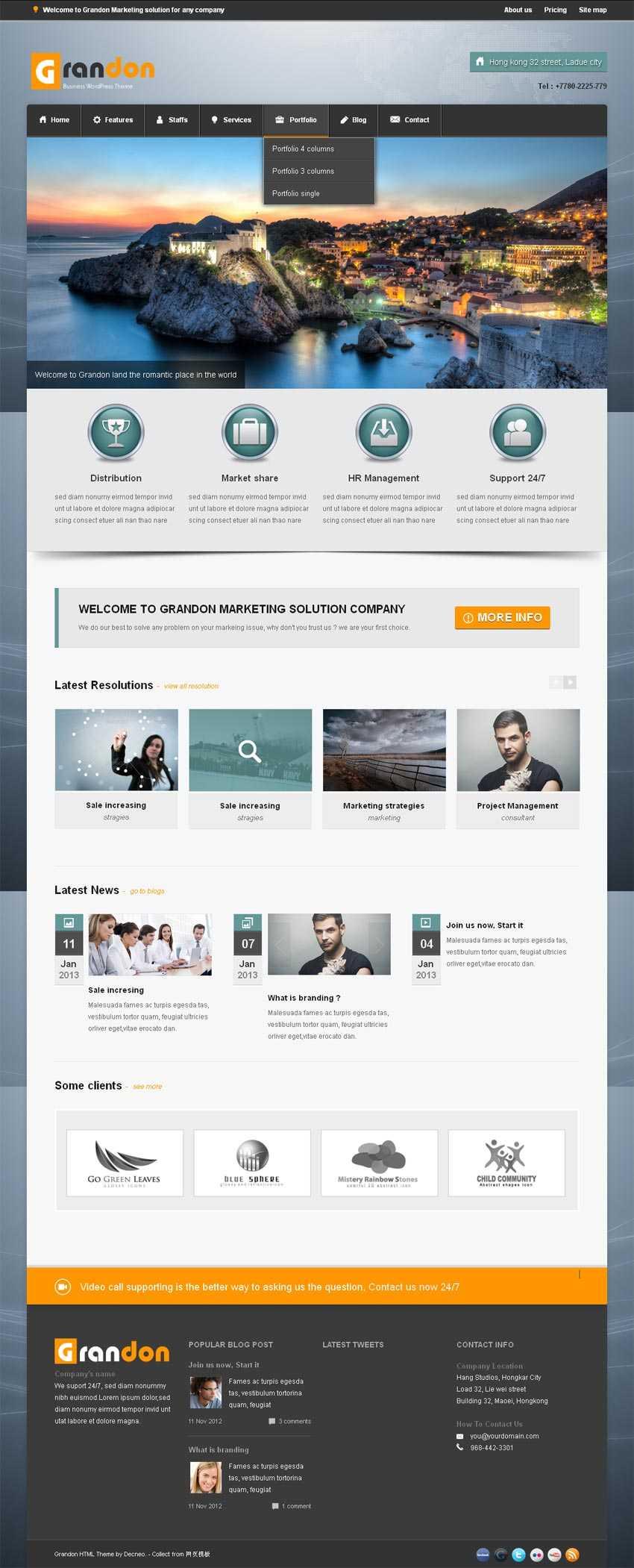 大气的旅游公司网站模板html5响应式模板下载