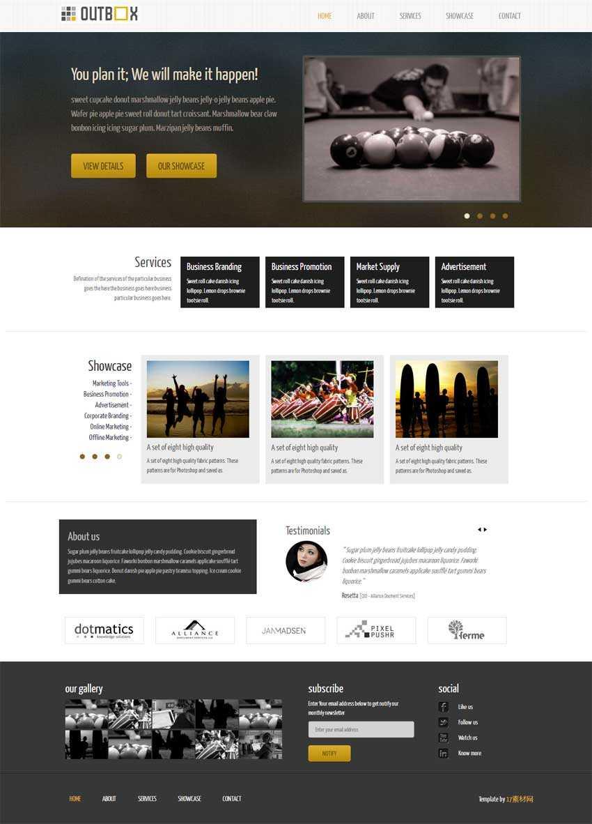 简洁的bootstrap响应式企业静态网站模板