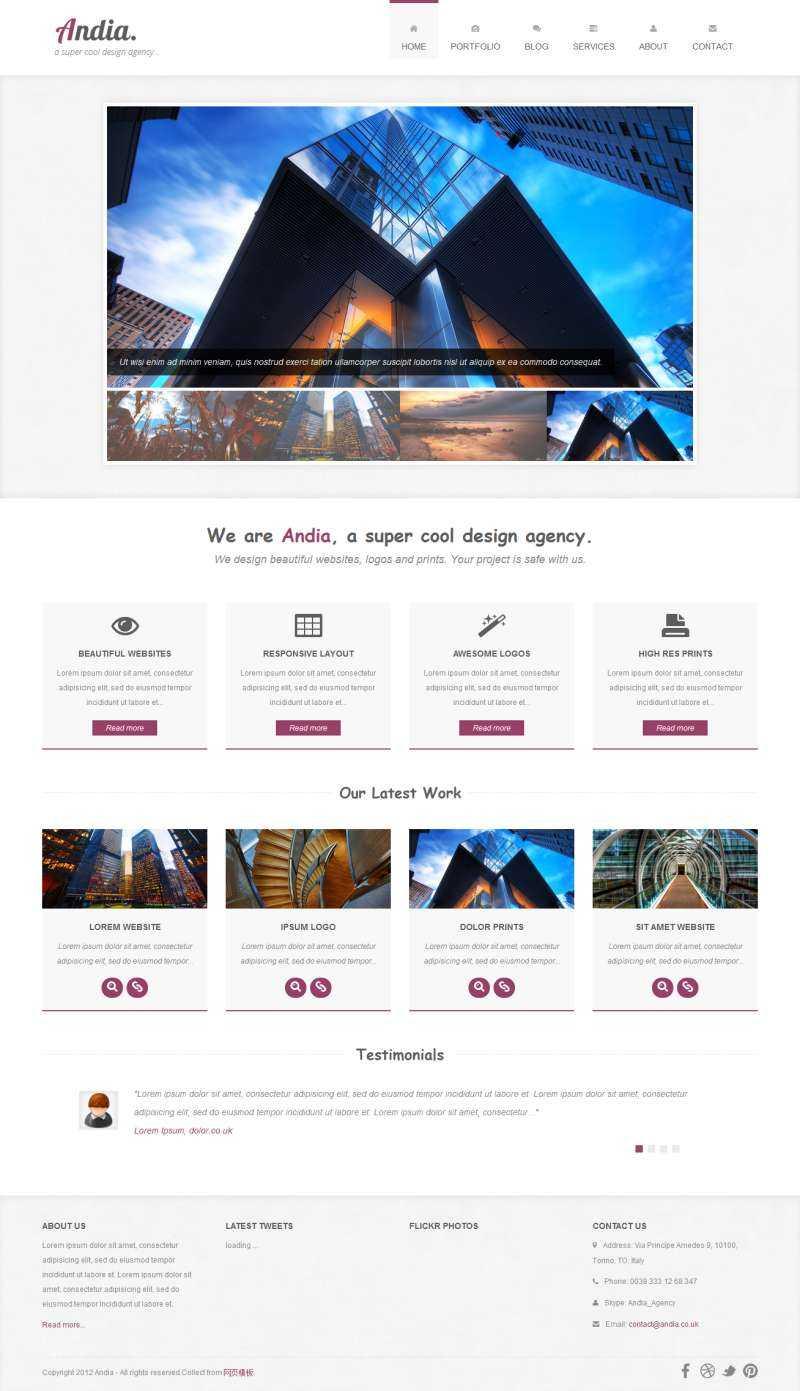 简洁的bootstrap响应式商业公司网站模板html整站下载