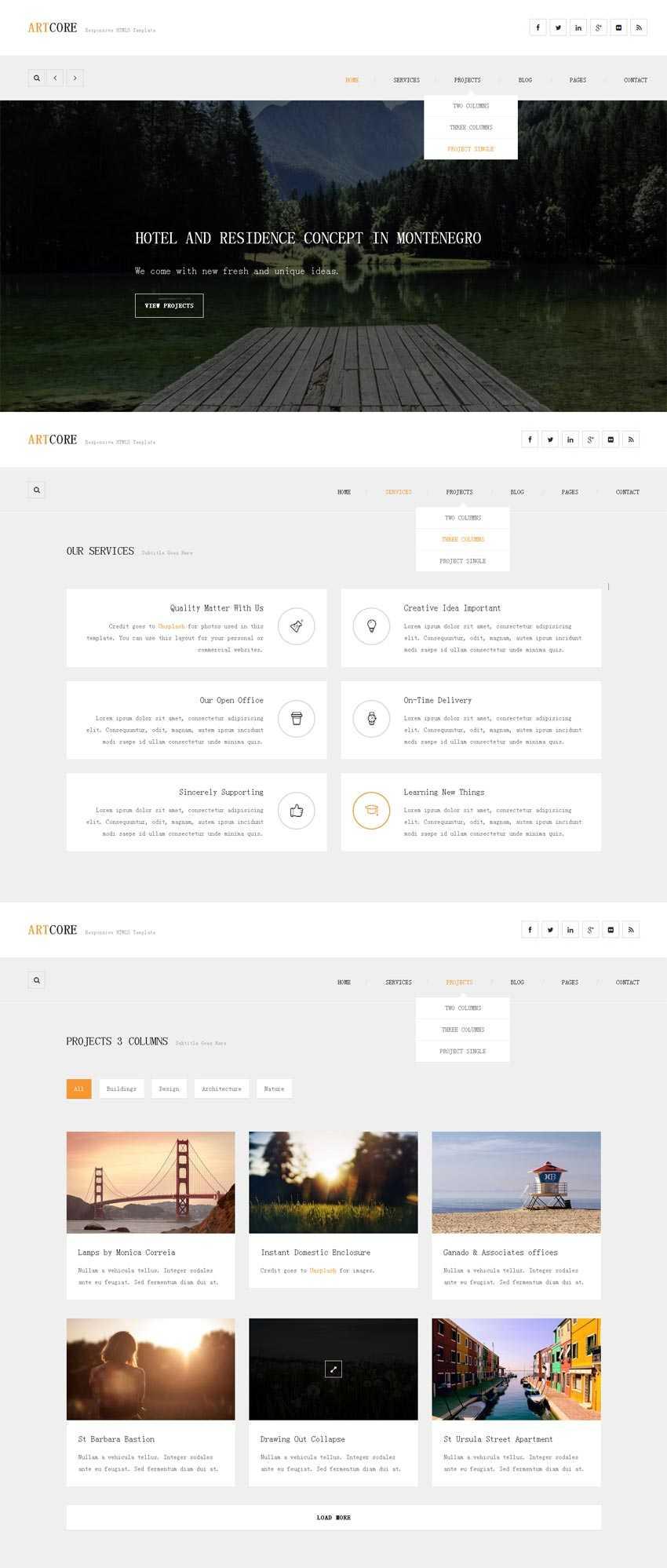 白色简洁的响应式手机网站模板html整站下载