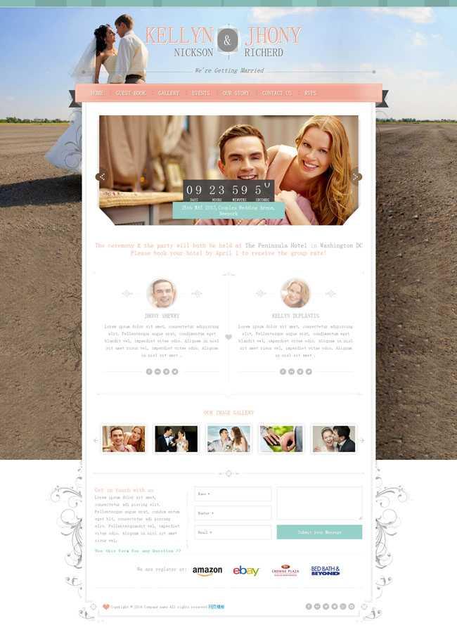 html5响应式布局粉色的婚庆公司网站模板整站下载