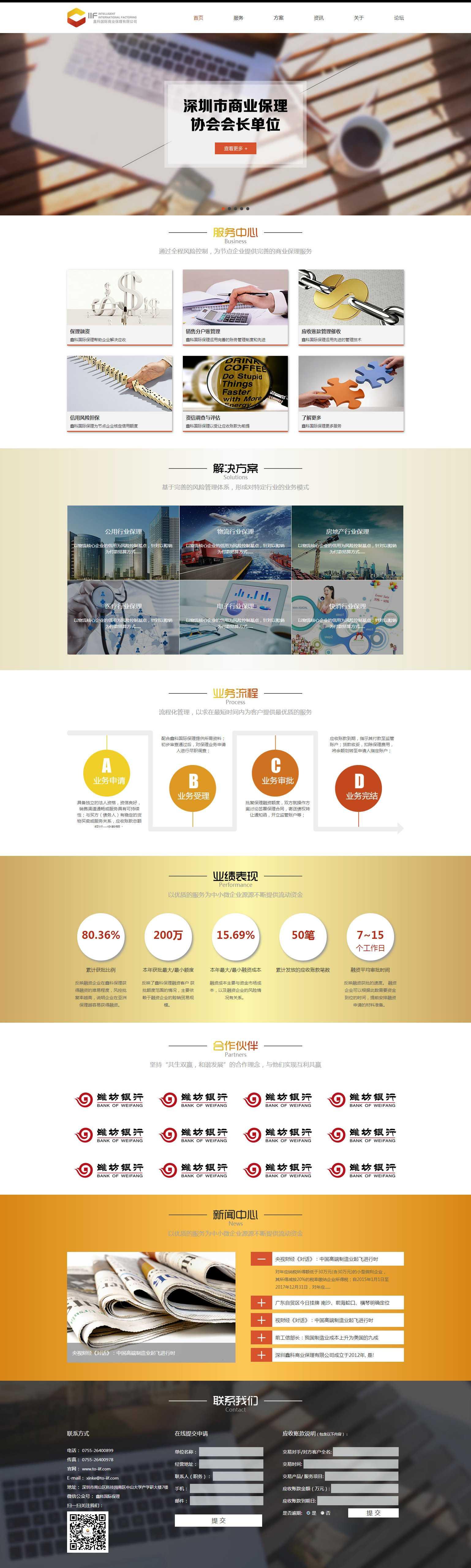 响应式鑫科国际商业金融公司网站html模板