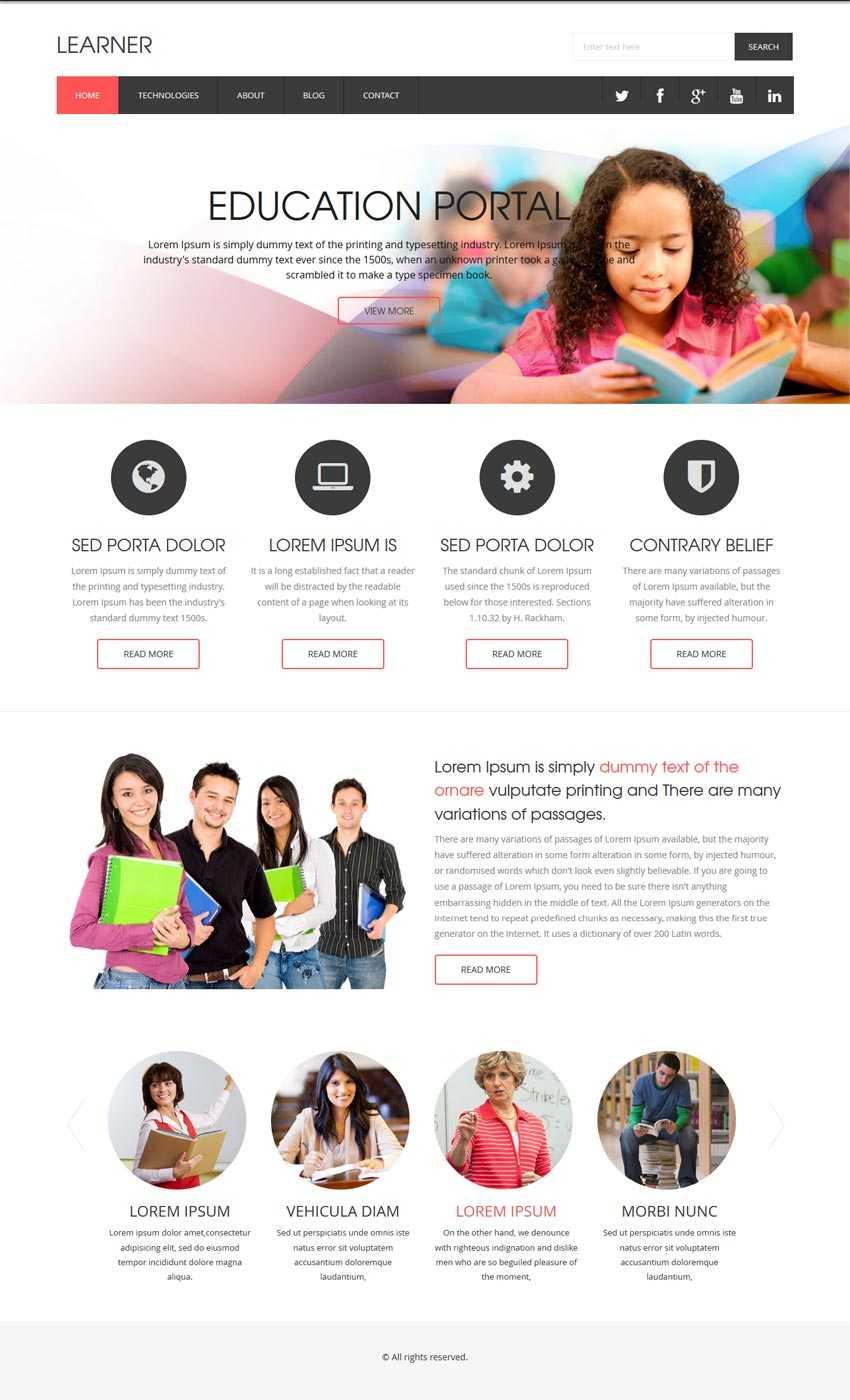 国外教育培训网站响应式模板html下载
