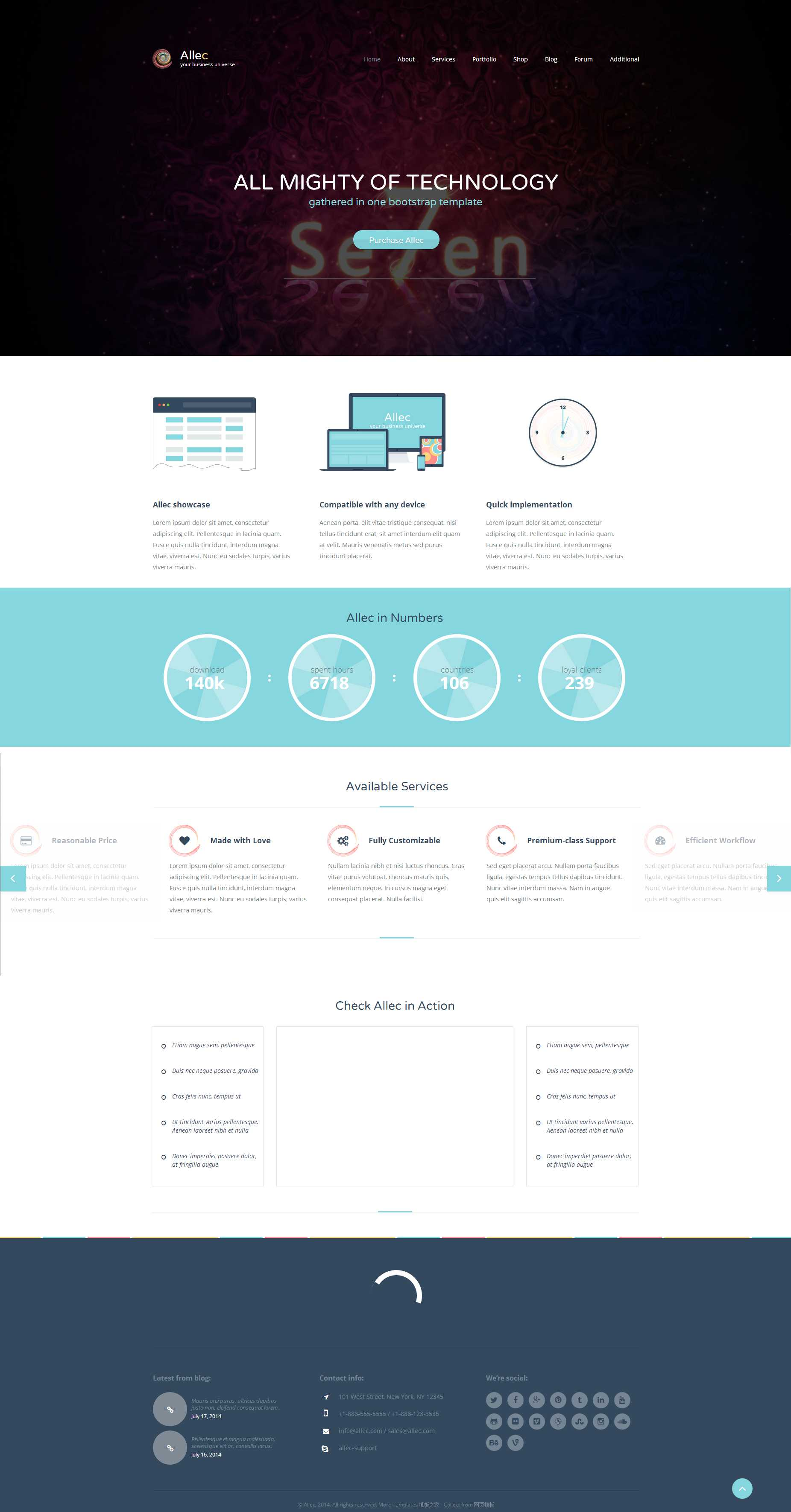 html5 css3扁平化商务网站响应式模板下载