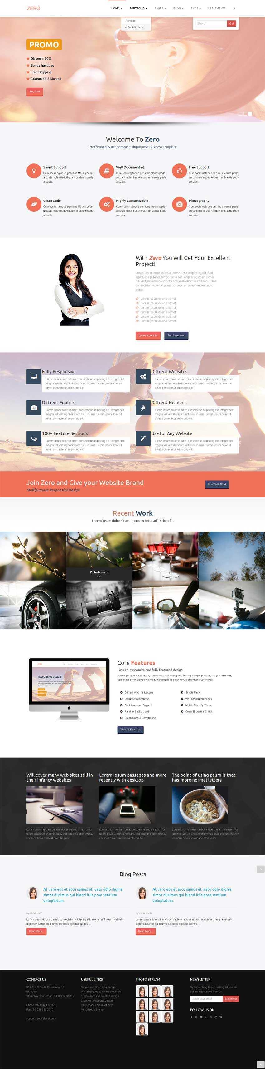 html5响应式企业主题网站模板源码下载