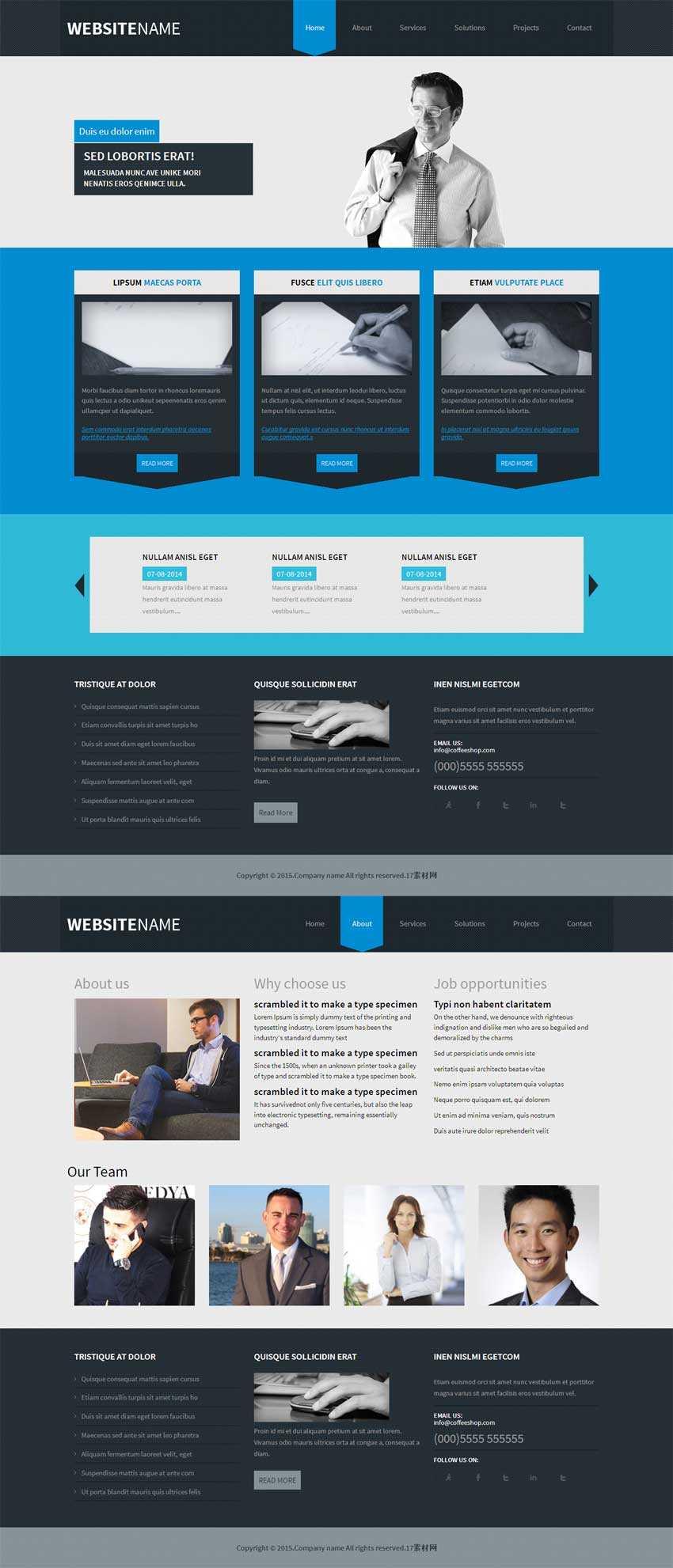 html5响应式商务律师网站模板源码下载