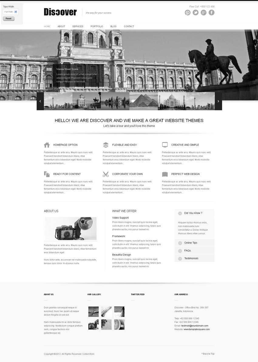 黑色的旅游景区网站HTML5响应式企业模板下载