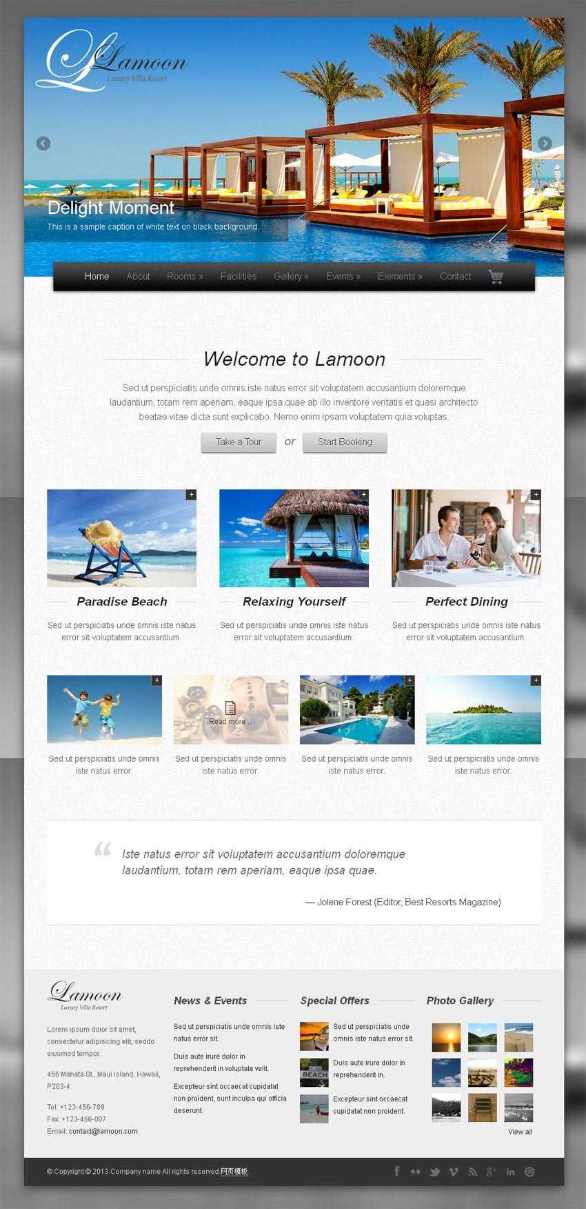 国外度假旅游网站响应式模板html整站下载