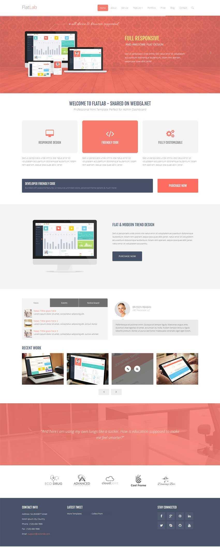 html5响应式设计网络公司网站模板下载