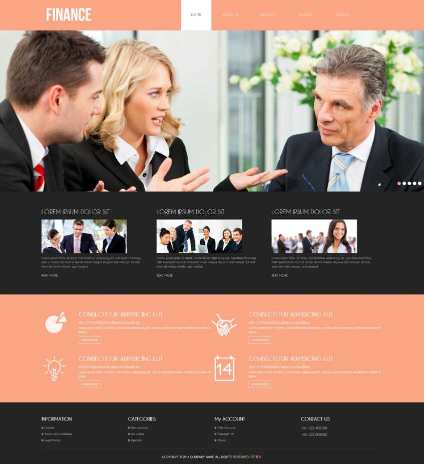 粉色大气的商务公司响应式网站模板html整站下载